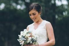 Rachel with bouquet